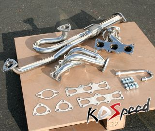 SS Racing Exhaust Header 93 97 Ford Probe Mazda MX6 V6 2 5 Klze