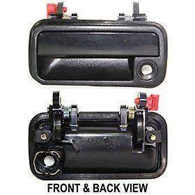 Mazda 626 88 92 Front Door Handle LH Outer Black