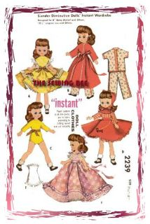 2239 Old Betsy McCall Doll Pattern 7 8 Vintage