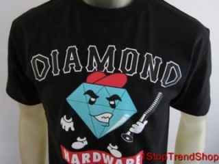 Diamond Supply Co Mens Hella Tight Black s s Shirt Size Medium Skate