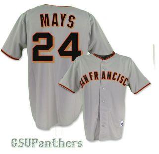 Willie Mays San Francisco Giants Grey Away Jersey Mens Sz M 2XL