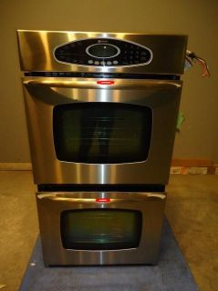 Maytag 27 Electric Double Wall Oven MEW5627DDS Stainless Dent and