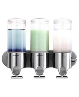 simplehuman Bath Accessories, Wall Mount Triple Pump