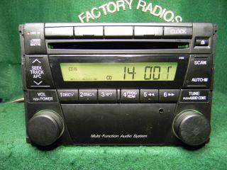 02 03 Mazda MPV CD Radio Aux I Pod  SAT Input