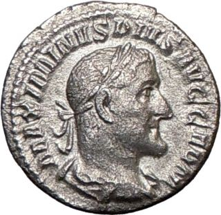 Maximinus I 236AD German Victory Silver Authentic Ancient Roman Coin