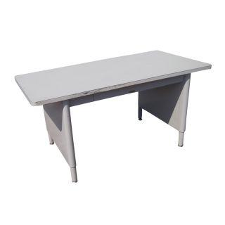 McDowell Craig Mid Century Modern Steel Panel Leg Table Desk