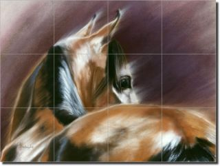 McElroy Horse Equine Art Ceramic Tile Mural Backsplash