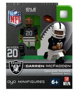 Darren McFadden Oyo Mini Fig Figure Lego Compatible Oakland Raiders