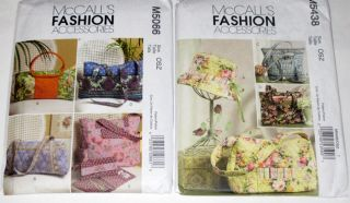 McCalls Purse, Tote, Cell Phone Case, Wallet Craft Sewing Patterns