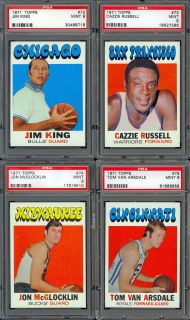 1971 Topps Basketball #74 Jon McGlocklin, PSA 9 MINT.None Graded
