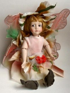 1984 Cindy McClure Fairy Doll Clover Porcelain 12 with Tag Excellent
