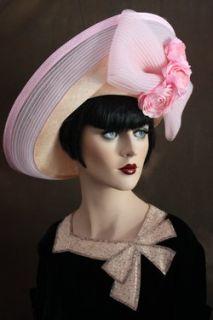 Vintage 60s Jack McConnell Pink English Roses Flowers Designer Wide