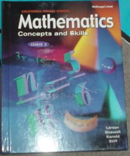 McDougal Math 7th Grade 7 Mathematics Text Homeschool