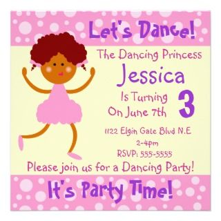 Lets Dance ~ Its Party Time~Kids Birthday Party Personalized