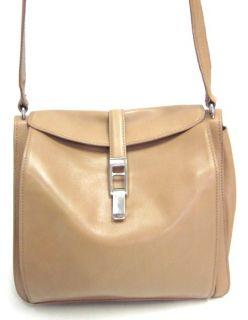 Mauro Governa for Suarez Tan Leather Shoulder Handbag