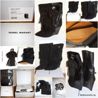 NEW ISABEL MARANT FALL 2012 JACOB FRINGED BOOTS SIZE 38 IN BLACK
