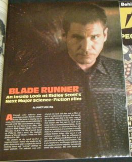 Harrison Ford Blade Runner in 3 Sci Fi Magazines