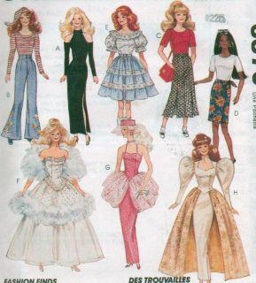 McCalls 11 1 2 Barbie Ken Doll Clothes Pattern