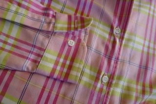 McLaughlin Relaxed Whitney Blouse Cotton Plaid Shirt 6