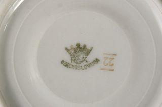 Rudolf Kampf Czechoslovakia Gold w/ Turquoise Porcelain Demitasse Cup