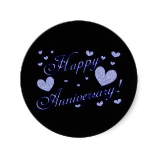 8290 Happy Anniversary wishes glitter silver Sticker