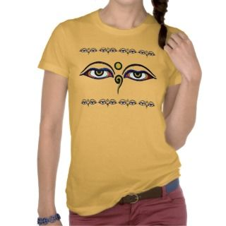 Buddha Eyes Art T Shirt