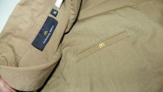 McDonalds Ochre Brown Uniform Costume Button Up Shirt XL Extra Large