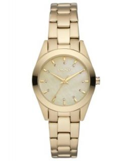 DKNY Watch, Womens Gold tone Ion Plated Stainless Steel Bracelet 28mm
