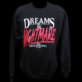 Meek Mill Dreams and Nightmares Crew Neck Sweatshirt Hoodie Sz M