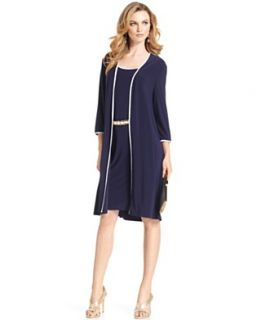 Jones New York Dress, Three Quarter Sleeve Belted