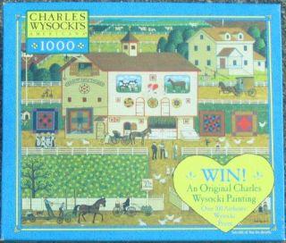 Charles Wysocki Amish Neighbors 1000 Piece Puzzle