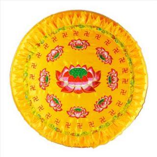 New Meditation Yoga Pray Pad Pillow Cushion Mat Golden Round Zafu Zen