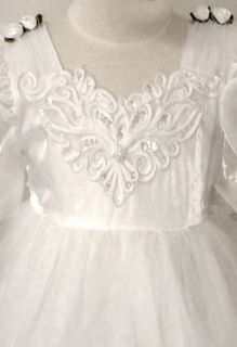 White Pink Butterfly Pageant Sequined Girls Holiday Party Dress 5 6 7