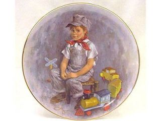 1978 John McClelland Ed Collector Plate When I Grow Up Boy with His