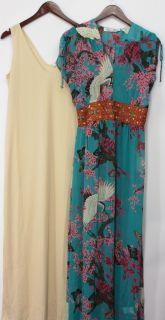 Meghan Fabulous Sz S Printed Maxi Dress Multi Color NEW QQ10 120