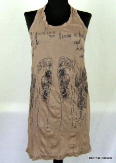 Henna Mehndi Tatto T Shirt Tunic Tank Top Mini Dress XL