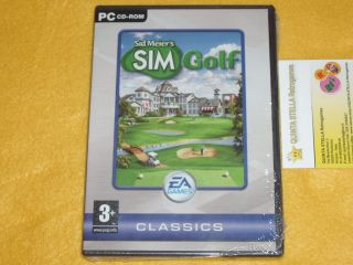 Sid Meiers Simgolf x PC Windows New Factory SEALED Very RARE PC Game