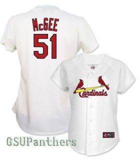 Willie McGee St Louis Cardinals Womens Home Replica Sewn Jersey Sz s