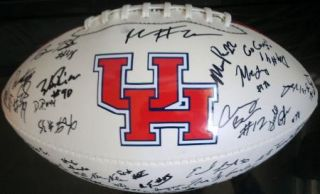 2012 Houston Cougars Team Signed Football Certificate Proof