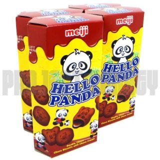 Meiji Hello Panda Double Choco Japanese Snacks 4 Packs Chocolate Candy