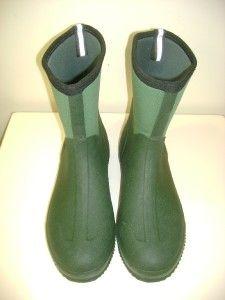 MUCK LAWN&GARDEN MENS GREEN RUBBER 100% WATERPROOF SCRUB BOOTS SZ 10