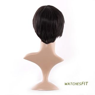 Chic Style New Handsome Mens Boys Short Black Straight Full hair Wig