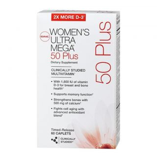 Womens Ultra Mega 50 Plus Dietary Supplement 60 Tab Vitamins
