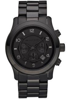 Michael Kors Blacked Out Runway Chronograph Mens Watch MK8157