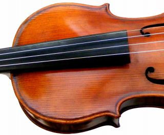 Estate Fine Antique German Violin Labeled Powerful Rich Tone Listen