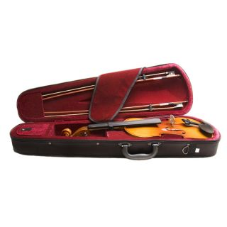 Mendini Ebony Violin 2 Bows Lesson Book w DVD Tuner