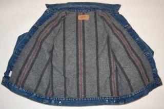 Vintage Levis Wool Blanket Lined Denim Jean Jacket Mens 40 USA