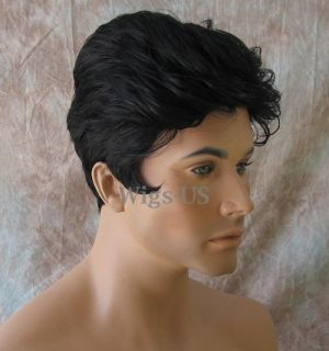 Elvis Style Mens Costume Wigs High Quality