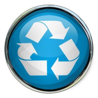 Recycle Logo in Glass (set of 6/20) Sticker