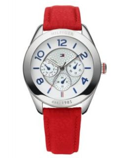 Tommy Hilfiger Watch, Womens White Leather Strap 40mm 1781202   All